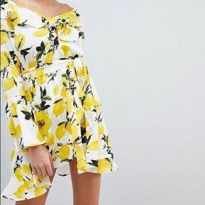 Boohoo Lemon Chiffon Sundress 6